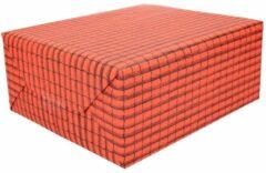 Shoppartners Dakpannen papier - 50 x 70 cm - dakpan cadeaupapier / inpakpapier