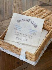 Witte Riviera Maison RM - Surf Club Paper Napkin - 2 x 20 stuks - Papieren servet