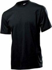 Stedman Zwart t-shirt ronde hals XL