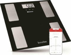 Zwarte Terraillon Web Coach Move - bluetooth weegschaal met lichaamsanalyse