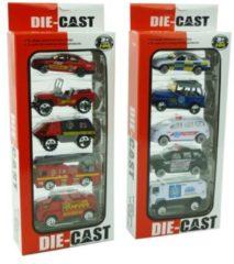 ARO toys Modelautootjes DieCast 1:64 pak a 5 st.