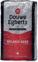 Rode Douwe Egberts gemalen koffie voor snelfilters Rood, pak van 1 kg
