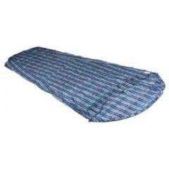 Blauwe Cocoon - MummyLiner Silk - Reisslaapzak maat 241 x 90/56 cm blauw/grijs