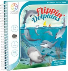 SmartGames Flippin' Dolphins - magnetisch reisspel met 48 opdrachten