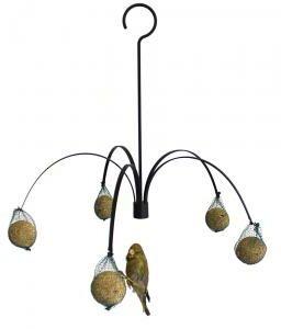 Afbeelding van Zwarte Veel-goedkoper.nl GardenLife Vogelvoederhuisje - Zwart - 45 cm x 37 cm x 45 cm