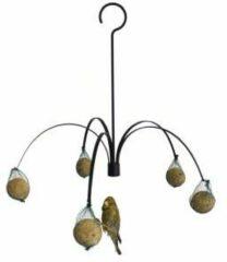 Zwarte Veel-goedkoper.nl GardenLife Vogelvoederhuisje - Zwart - 45 cm x 37 cm x 45 cm