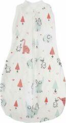 Rode BonBini's BonBini´s baby slaapzak Olifantje Vrolijk - Baby wiegdeken babydeken - 65 x 34 cm - 0-3 maanden -Grey Red