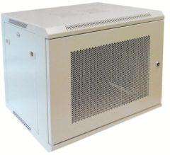 """Alfaco 19-6406WP, 6U, 19"""" Serverkast/Wandkast met geperforeerd voordeur, (BxDxH) 600x450x368mm, beige"""
