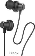 Hoco - in-ear koptelefoon oortjes - Earphones met microfoon en volumebesturing - Zwart