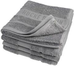 HUCKE Handtuch 4er Set, anthrazit