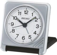 Grijze Seiko reiswekker met elektronisch piep alarm - grijs/zwarte uitvoering