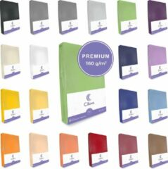 Cillows Premium Jersey Hoeslaken voor Matras - 140x200 - 160x220 cm - (tot 25 cm hoogte) – Kiwi