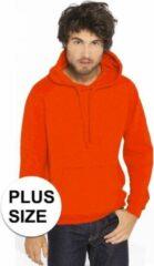 Gildan Grote maten oranje sweater/trui hoodie voor heren - Holland plus size feest kleding - Supporters/fan artikelen 3XL (46/58)