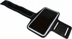 Zwarte I12Cover Comfortabele Smartphone Sport Armband voor uw Archos 50b Neon