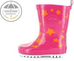 Fuchsia Shoesme Meisjes Rubber laarzen - Fuxia star - Maat 23