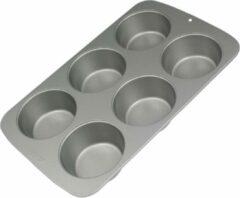 Donkergrijze Muffin / Cupcake Bakvorm PME groot 6 stuks