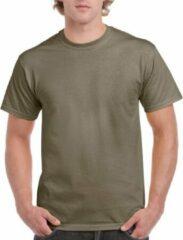Gildan Kaki groene katoenen shirt voor volwassenen 2XL (44/56)