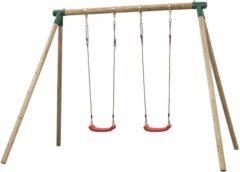 Bruine Swing King Dubbele houten schommel - Bernedette