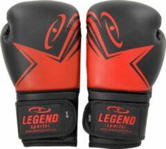 Legend Sports Bokshandschoenen Legend EcoFIT Zwart/Rood 12 oz