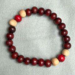 Zwarte Wellness-House | Mantra Beads Red | Mantra | Meditatie | Zen Armband | Zen Sieraden | Zen Cadeau