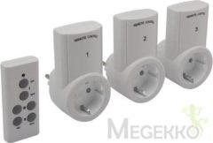 Perel Velleman set van 3 stopcontacten met afstandsbediening 7500-3n2-g