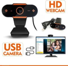 Oranje Takmach Webcam voor PC - Webcams - Camera Laptop - USB Webcam - Webcam voor Computer - Microfoon - Werk & Thuis - Windows - Mac - Linux - Nieuw Model 2020