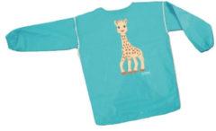 SES Creative kliederschort Girafe junior canvas blauw 1-4 jaar