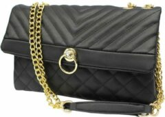 Nicole Brown Schoudertas zwart, ecoleder 19 x 27,5 cm - Handtassen Dames - Schoudertassen Vrouw