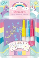 Totum spraypennen Unicorn 18 x 26 cm junior 6-delig