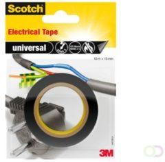 3M universal 4401BLA Isolatietape Scotch Zwart (l x b) 10 m x 15 mm 1 rol/rollen