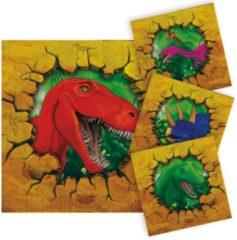 Folat Dinosaurus Servetten 33x33cm 16 stuks