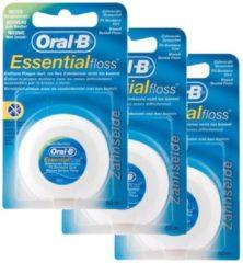 Oral-B Essential - 3 x 50 m - Flosdraad - Voordeelverpakking