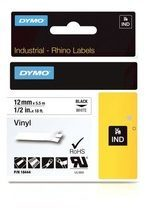 Labeltape DYMO IND RHINO 18444 Vinyl Tapekleur: Wit Tekstkleur:Zwart 12 mm 5.5 m