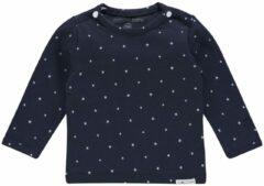 Marineblauwe Noppies, Jongens Shirt ´Collin´, navy / wit
