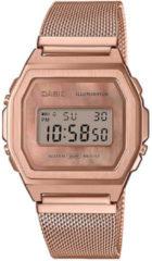 Casio horloge A1000MPG-9EF Meshband Vintage rosekleurig 38 mm