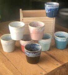 Costa Nova Espressokop Grespresso 9cl - Aardewerk - Kleurenmix - 6,7cmxH5,9cm - 8 stuks