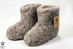 Fast wool Wollen sloffen - laars model - gemêleerd - maat 43