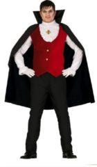Rode Guirca Vampier & Dracula Kostuum | Graaf Gruwelijke Grijns | Man | Maat 48-50 | Halloween | Verkleedkleding