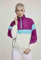 Urban Classics Pullover Jas -XS- 3-Tone Stand Up Paars/Roze