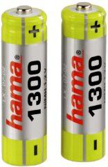 Zwarte Hama AA Batterijen - 2 stuks - 1300 mAh