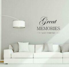 Kimano Muurtekst Great Memories zwart
