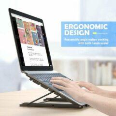 Zwarte Opline Laptop Tablet Stand, Opvouwbare Draagbare Geventileerde Desktop Laptop Houder, Universele Lichtgewicht Verstelbare Ergonomische Lade Koeling