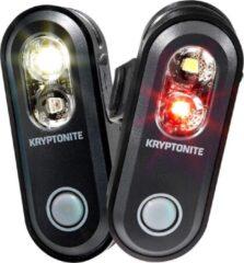 Kryptonite Avenue F-70 / R-35 Verlichtingset LED Accu - Zwart