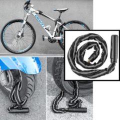 Zwarte Hoogwaardig Kettingslot Fiets / Motoren / Scooters - Metalen Fiets slot kettingslot - Zware kwaliteit kabelslot - Fietsslot Metaal- Scooterslot - Motorslot - Kettingsloten gehard staal - Slot Lengte: 116 Cm - Decopatent®