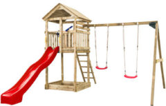 SwingKing Swing King Speeltoestel Daan rode glijbaan 7888006.RD