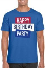 Toppers official merchandise Toppers - Blauw Toppers in concert t-shirt Happy Birthday party heren - Officiele Toppers in concert merchandise 2XL