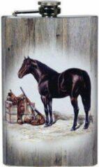 Naturelkleurige Rivers Zak flacon groot rustend paard