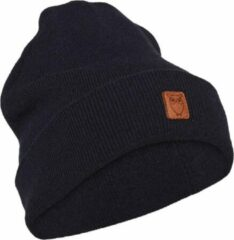 Blauwe Knowledge Cotton Apparel Beanie Organic Wool Total Eclipse