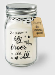 Witte Paper dreams Black & White geurkaars - Broer
