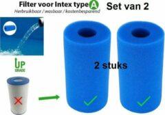 Blauwe Eavy Intex Filter Type A Cartridge - Wasbaar & Herbruikbaar - Zwembad onderhoud - Intex A - Set van 2